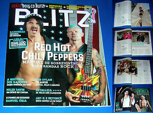 RED-HOT-CHILI-PEPPERS-full-magazine-BLITZ-incl-cover-9-page-article-PORTUGAL
