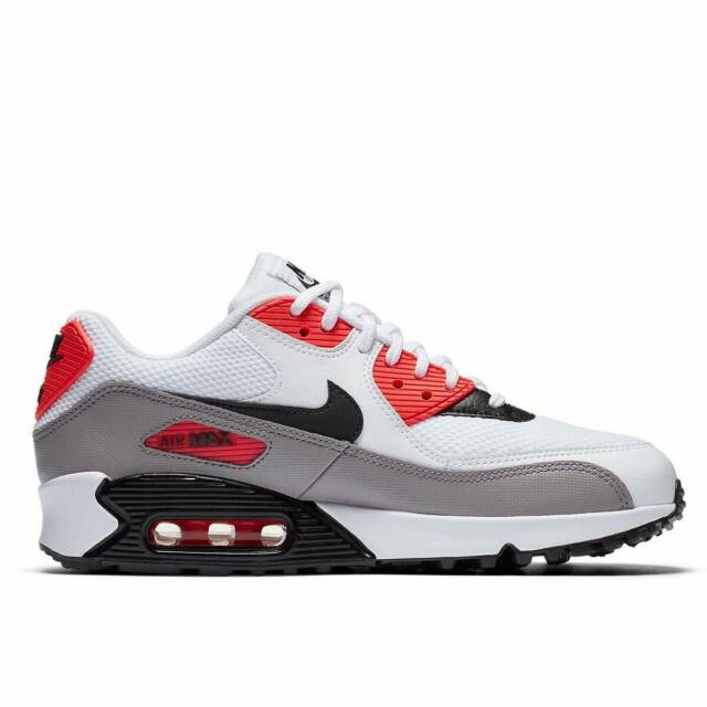 WMNS Nike Air Max 90 SZ 6.5 White Black Grey Red 325213 132