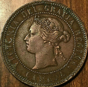 1881H-CANADA-LARGE-CENT-LARGE-1-CENT-PENNY-Excellent-example
