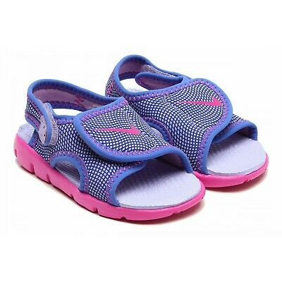 TODDLERS NIKE SUNRAY ADJUST PURPLE//PINK GIRL/'S SANDALS 386521-504