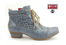 Mustang Lace Lace Lace up Boot With Embroidery Damenschuhe Sky Blau Ankle Stiefel ... 7970d5