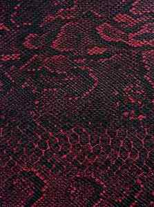 Camera-Body-Recovering-Leatherette-self-adhesive-Black-amp-Red-Snake