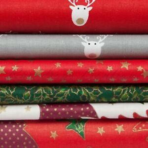 Franc Noël Imprimé Qualité Matériau 100% Tissu De Coton Au Mètre Ou 1/2 Mètre-afficher Le Titre D'origine