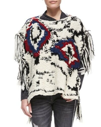 10 Shanon laine Marant Pull Isabel 14 Poncho à 38 6 8 franges Boho Pull 12 Top en DIEW2YeH9