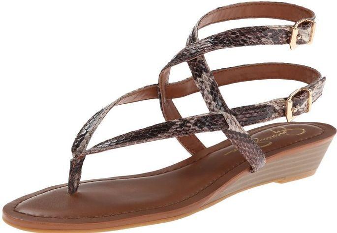 Jessica Simpson Größe 9.5 Braun Snake Sandales NEU Damenschuhe Schuhes