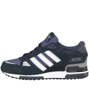Details about ADIDAS ZX 750 TRAINERS NAVY BLUE UK MENS SIZES 7 TO 12
