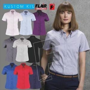 e39674c35 Image is loading Kustom-Kit-Ladies-039-Corporate-Short-Sleeve-Oxford-