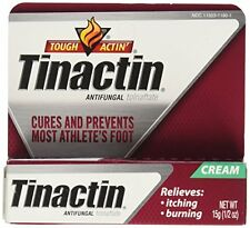 Tinactin Antifungal Cream - Cures most Athlete's Foot .5oz Each