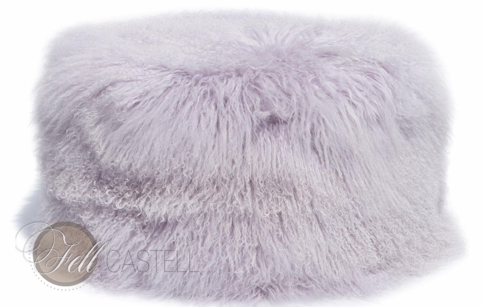 Tibet PEAU LAINEE Pouf 60 cm de diamètre environ Lavender Fog violet violets
