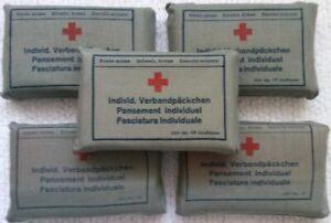 Vintage-1960s-Swiss-Army-Bandage-Sterile-Compresses-First-Aid-Pack-Unused