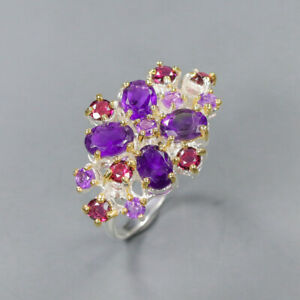 Amethyst Ring 925 Sterling Silver Size 9 /RT20-0151