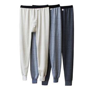 Mens-Long-Johns-Comfy-Thermal-Trousers-Loose-Winter-Warm-Underpants-Random-Color