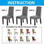 1-4-6-Pcs-Jacquard-Plain-Chair-Cover-Slipcover-Chair-Protectors-Dining-Covers miniature 2