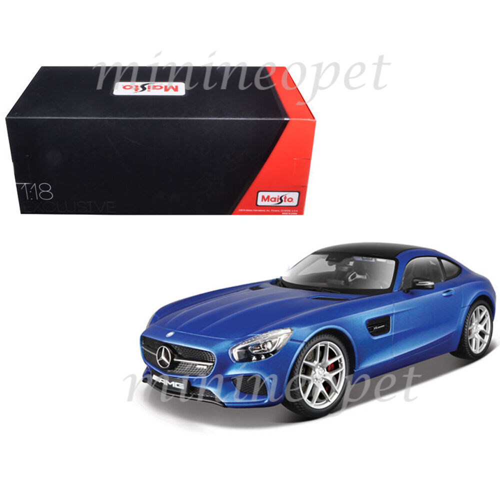 MAISTO 38131 EXCLUSIVE EXCLUSIVE EXCLUSIVE EDITION MERCEDES BENZ AMG GT 1 18 DIECAST MODEL CAR blueE dc9fb0