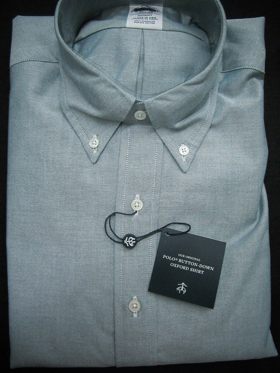 Brooks Brothers Oxford Shirt Grün Slim Fit Supima Cotton NWT  140 USA New