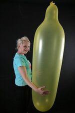 1 x GL500 Riesen-Zeppelinballon CRYSTAL-GELB / YELLOW mit Verschluss / with clip