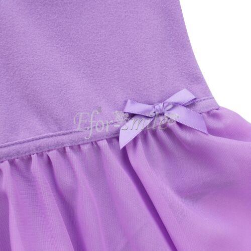 Mädchen Body Gymnastikanzug Ballettanzug Turnanzug Ballett Trikot Sommer Kleider