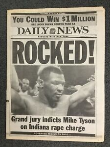 Mike-Tyson-Boxing-1991-New-York-Daily-News-Newspaper