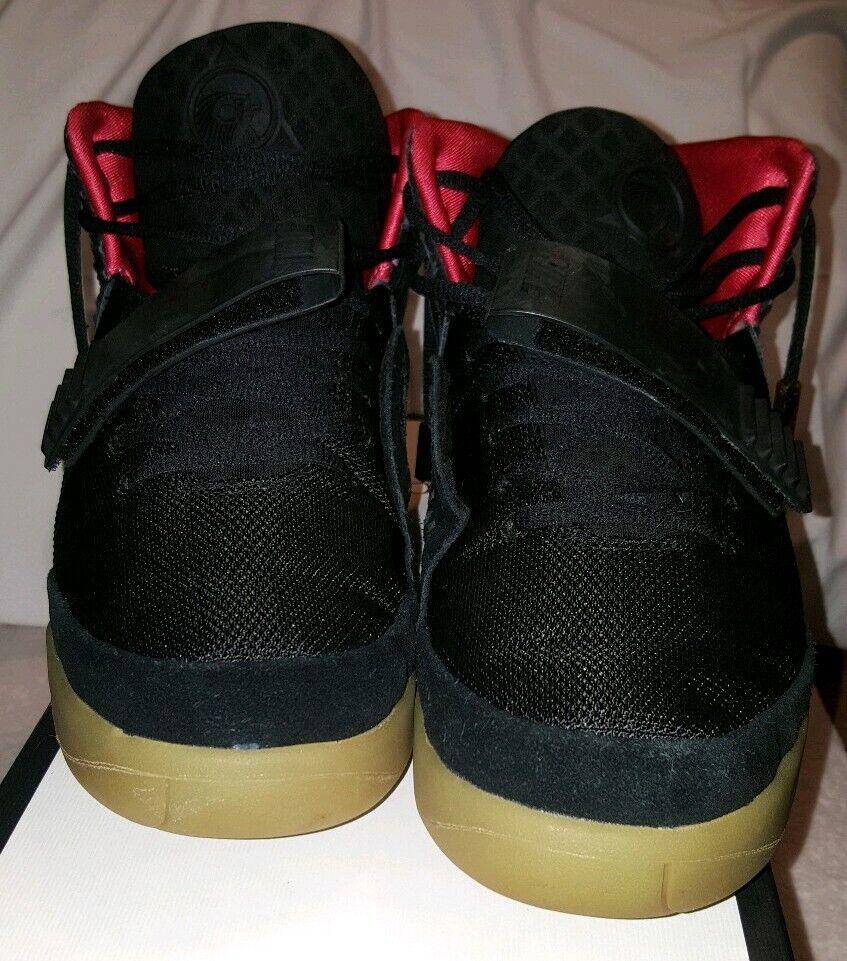 Nike Air Yeezy 2 Nrg Solar Red black size 11