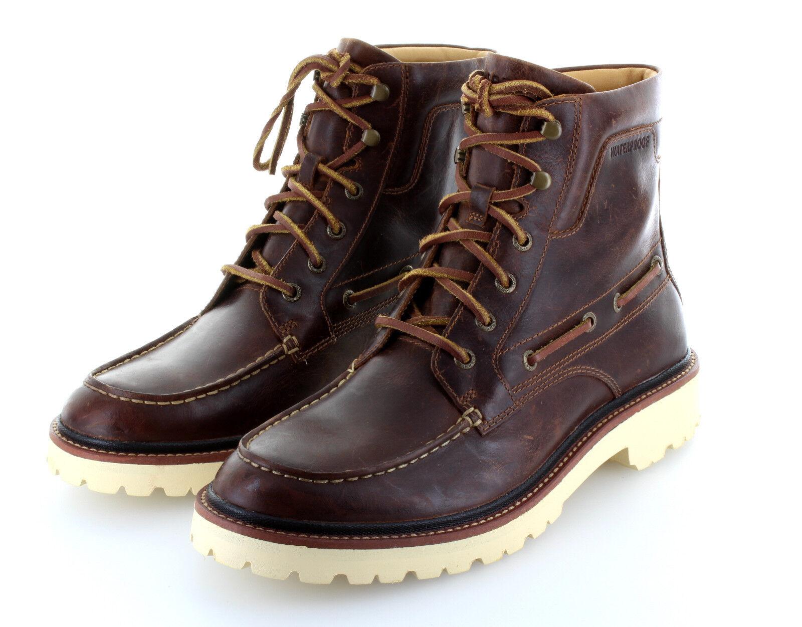 Sperry Top Sider Gold Luc Moc Tan Stiefel Stiefel Leder Schuhe Gr. 42   US 9