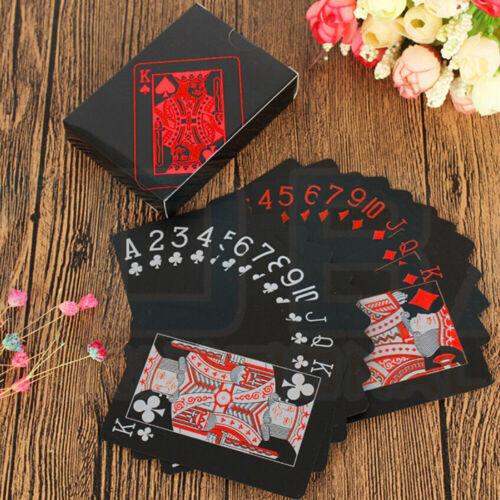Creative Deck Black Waterproof PVC Poker Magic Table Plastic Game Playing Cards