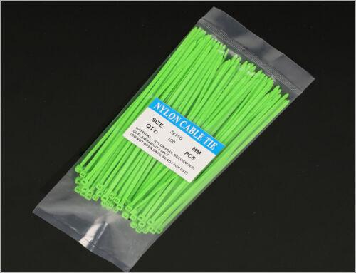 3x150mm Color chorda Tie wrap heat-resistant Self-locking Nylon cable tie