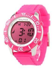 NAUTICA-Orologio-Donna-A09930G-rosa-silicone-quarzo-lcd-digitale-led-nuovo-uomo