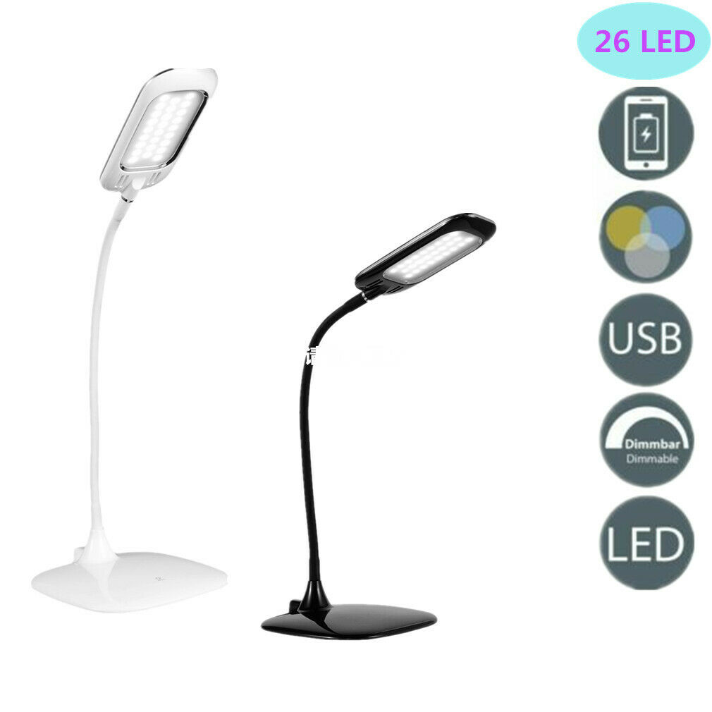 LED Schreibtischlampe Tischleuchte 4 in1 Leselampe dimmbar Tischlampe Nachttisch