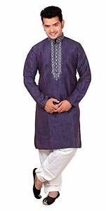 3112d155d4 Image is loading Mens-Indian-Kurta-contrast-Shalwar-Kameez-Pajama-Party-