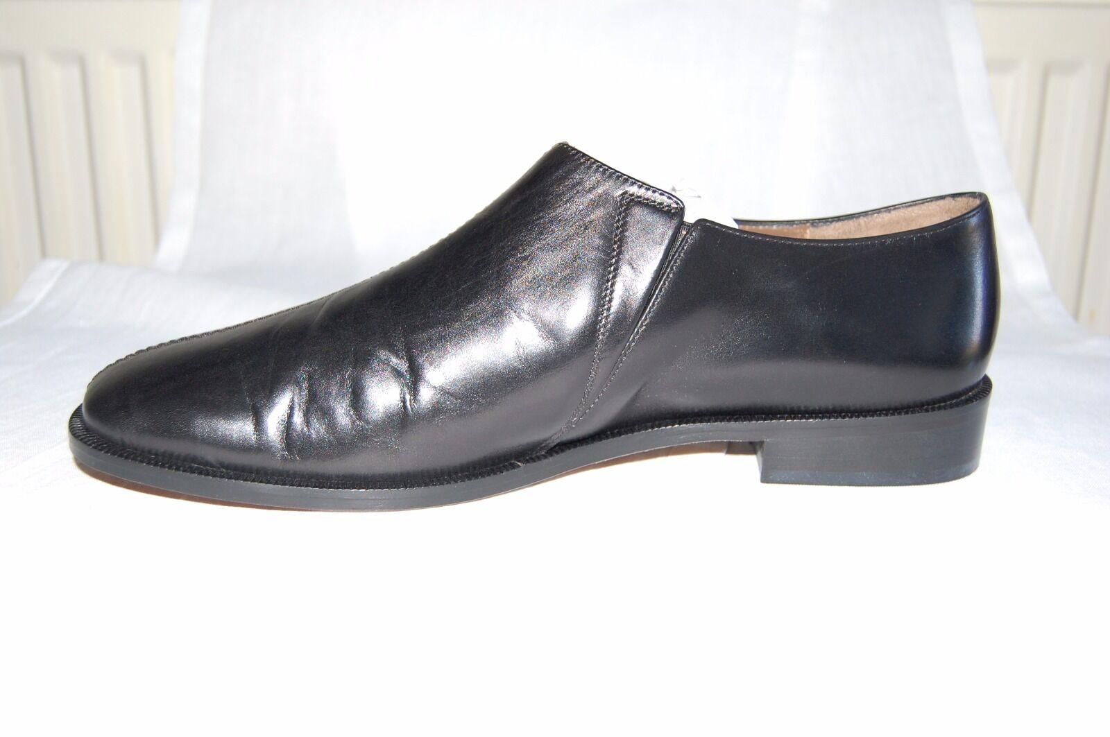 Nuevos Zapatos Negros EU Marni piel de becerro Mocasín Tacón Bajo Talla EU Negros 41 3332ef