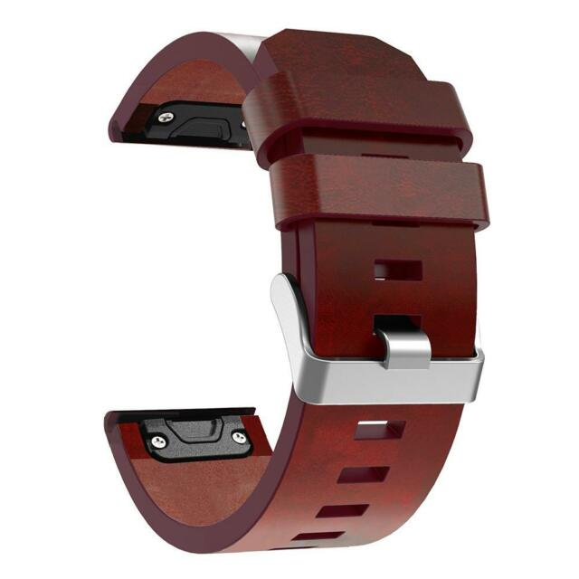UN3F Leather Wrist Watch Band Bracelet Strap 26mm for Garmin Fenix 3 Fenix 5X