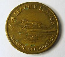 1960's SEATTLE SEAFAIR 25 Cent Diamond Parking token U-75 Hydroplane Boat racing