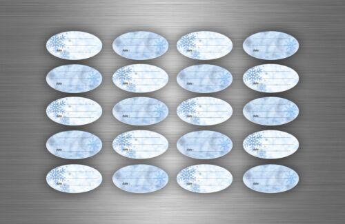 100 x sticker self stiker freeze freezer labels food packaging frozen monolabel