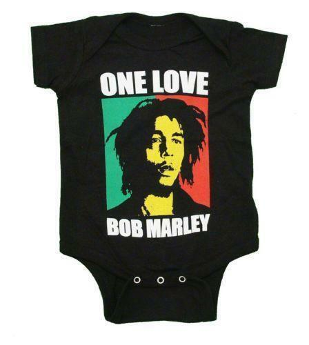 Ages 0-18 Months Bob Marley One Love Babygrow Black Romper