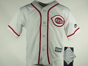 wholesale dealer a4639 a9be3 Details about Cincinnati Reds Baseball MLB Majestic Cool Base Infant  Toddler & Kids Jersey New