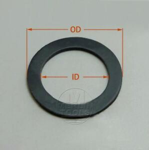 Select-Size-ID-22mm-36mm-Black-VITON-O-Ring-Gaskets-Washer-8mm-Thick