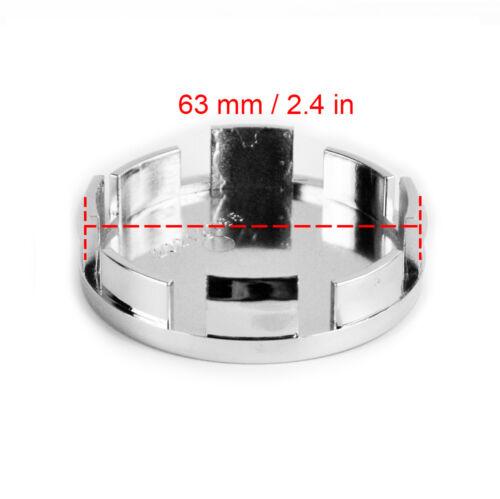 4pcs Wheel Hub Center Caps 65mm//63mm for V70//XC70 S60 S80 XC90 C70 S40#3546923