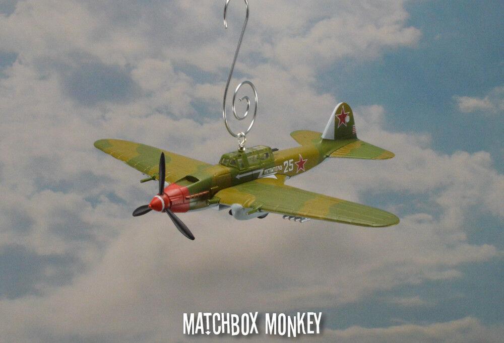 Ilyushin Il-Ii Schturmowik Russische WWII Soviet Flugzeug Weihnachten Ornament