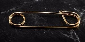 "Vintage Kilt Pin Blanket Skirt Pin Gold Plated Metal New Old Stock 4"" x 1"""