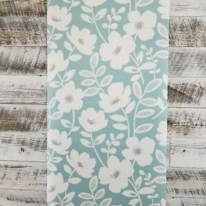 Image Is Loading Brewster Wallcoverings Bergman Teal Gray Scandinavian Modern Floral