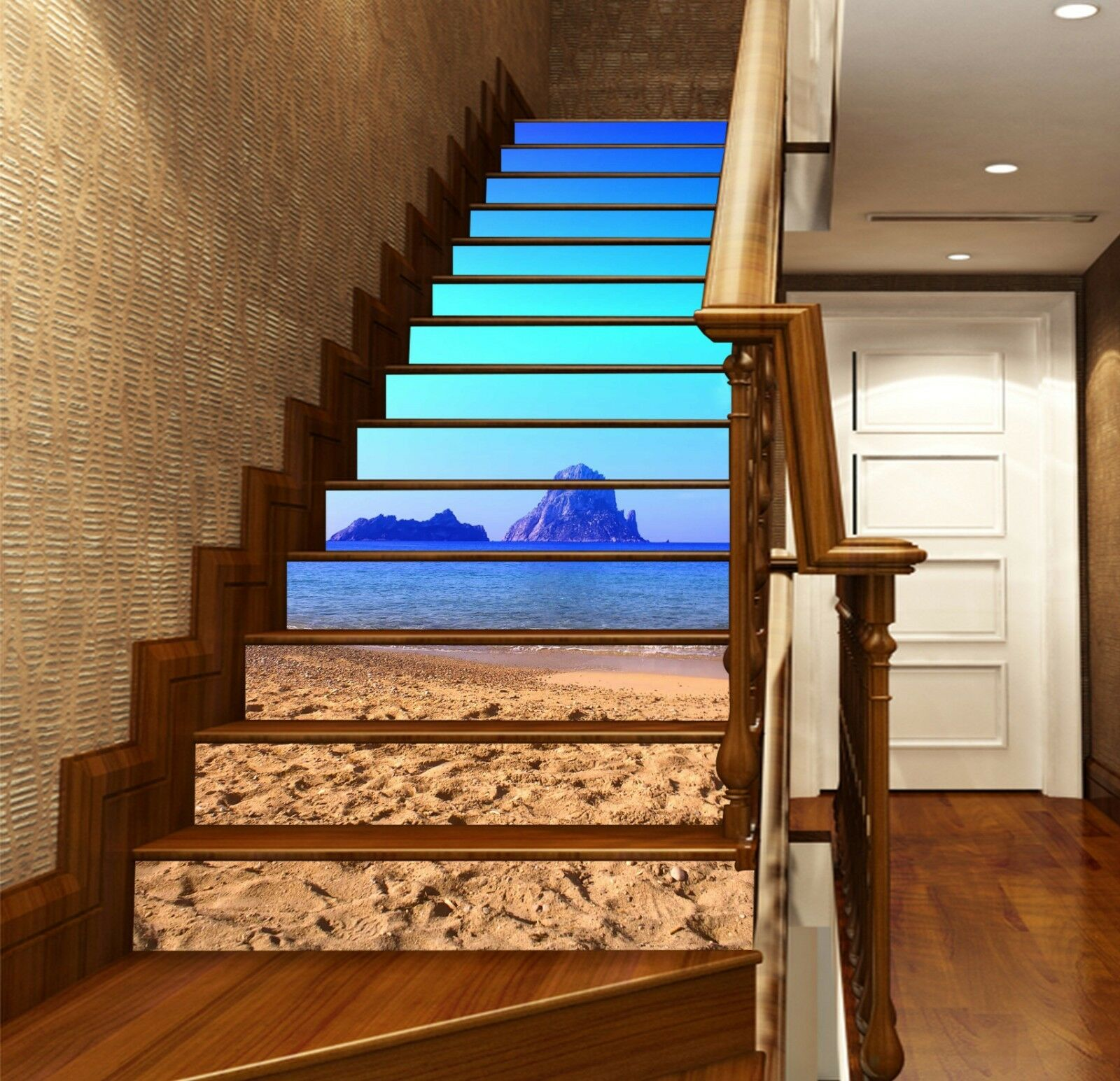 3D bluee sky mountain 23 Risers Decoration Photo Mural Vinyl Decal Wallpaper US