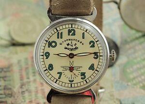 Pobeda-Uhr-shturmandkie-russischen-Qualitaet-Lederband-in-Style-NATO-Zulu