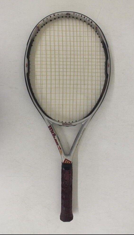 Wilson Hammer 4.4 Titanium Oversize 110 Sq In Tennis Racquet w 4 1 2  Grip GREAT