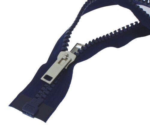 Cremallera recíprocamente plástico grueso divisible con doble empujador para carpas