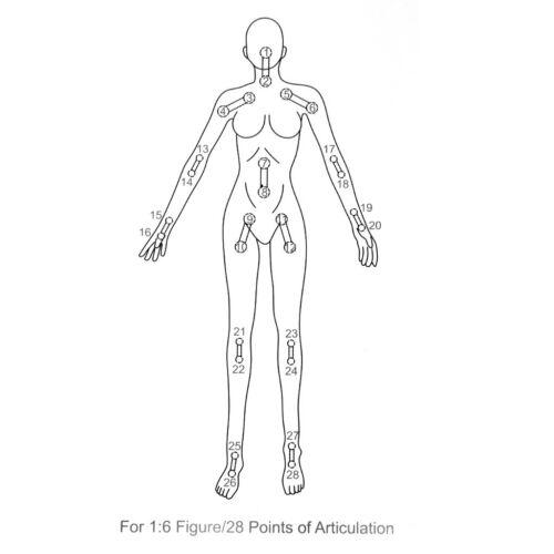 "Seamless Female w// Stand Random Bikini for 1//6 12/"" Phicen Kumik Figure Pale"