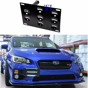 Front Bumper Tow Hook License Plate Bracket For Subaru Wrx Sti