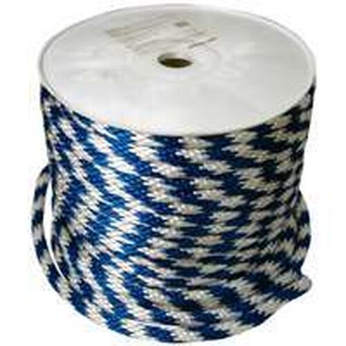 NEW ROLL 5 8  X 200' FOOT blueE WHITE POLY DERBY ROPE