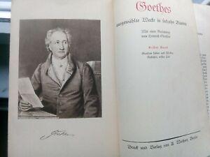 GOETHE-Goethes-ausgewaehlte-Werke-in-16-Baenden-4-Buecher-Goldschnitt-vollstaend