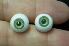 Crystal Lenses LARGE PUPIL IMSCO Doll Eyes 24 mm BROWN German PUPPENAUGEN