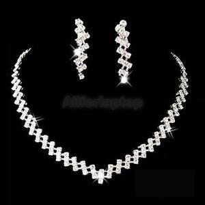 Schmuck hochzeit  Hochzeit Braut Schmuck Ohrringe+Halsketten Set mit Straß Braut | eBay
